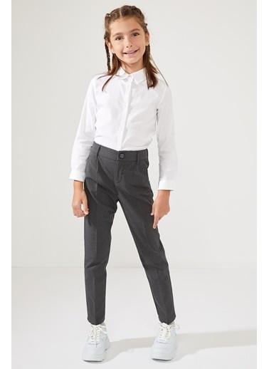 DeFacto Kız Çocuk Carrot Fit Pantolon Gri